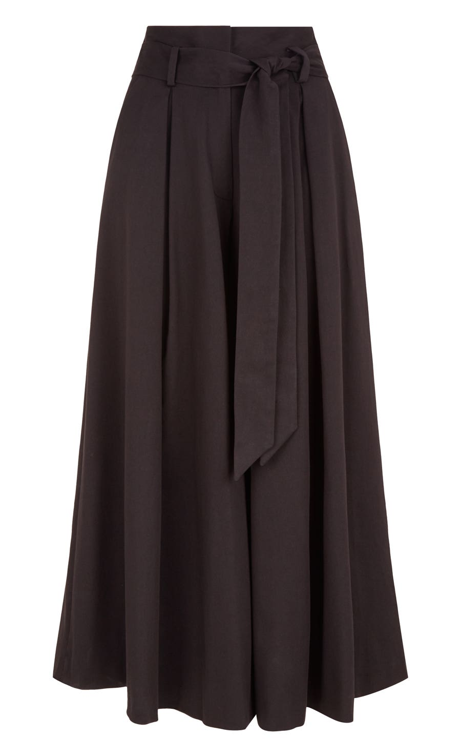 Blueberry Tailoring Ruffle Culottes, Black