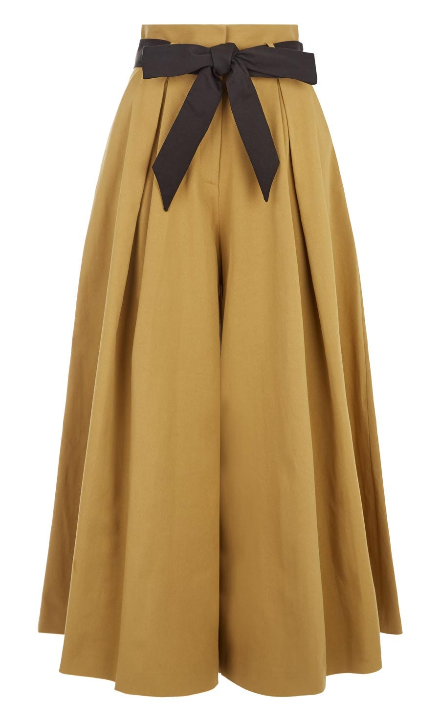 Blueberry Tailoring Ruffle Culottes, Flax