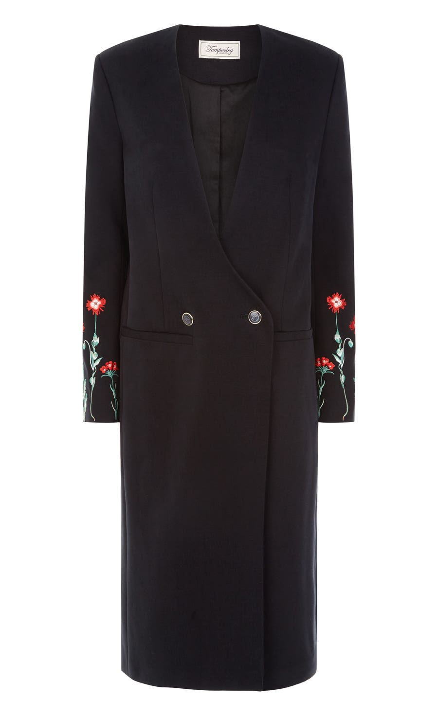 Creek Tailoring Long Coat, Black