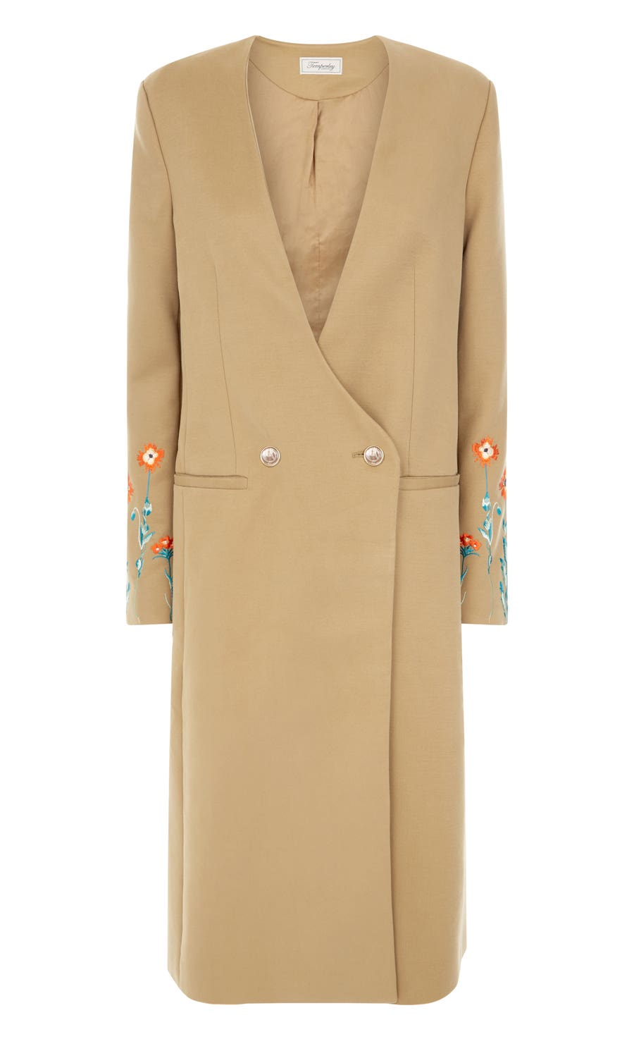 Creek Tailoring Long Coat, Flax