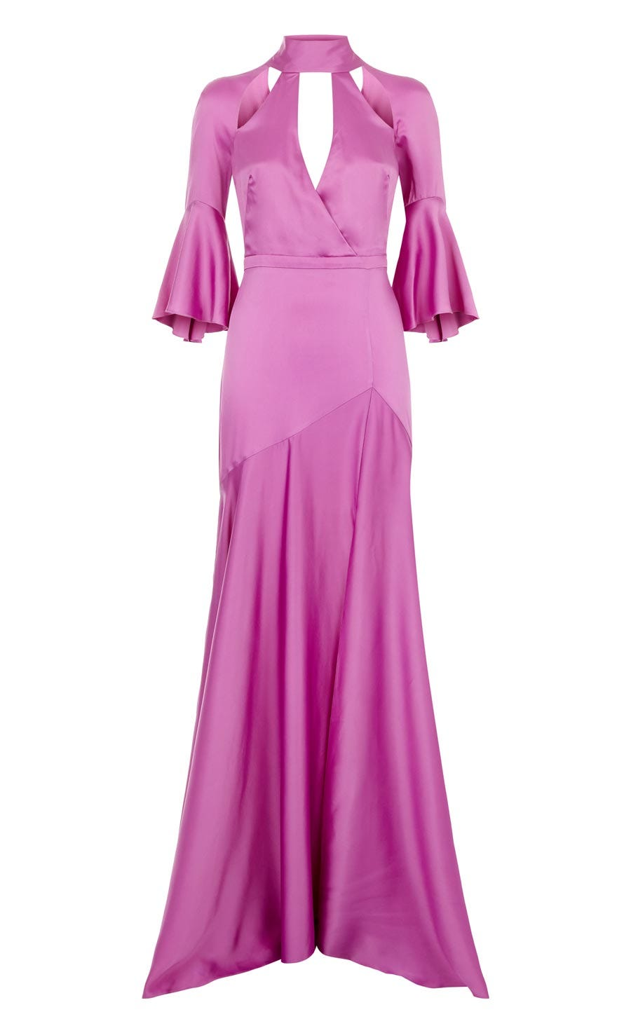 Carnation Long Dress, Amethyst