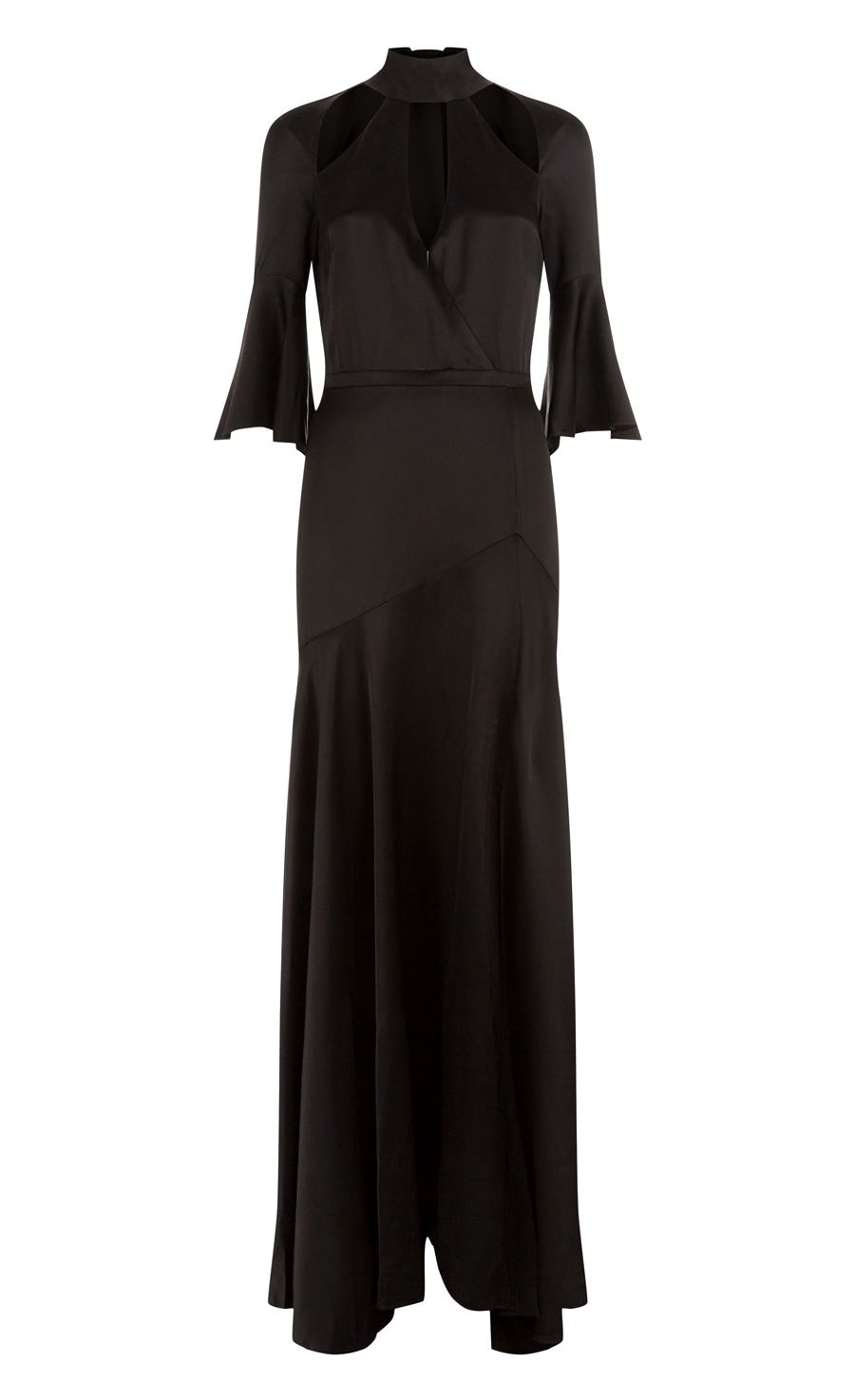 Carnation Long Dress, Black