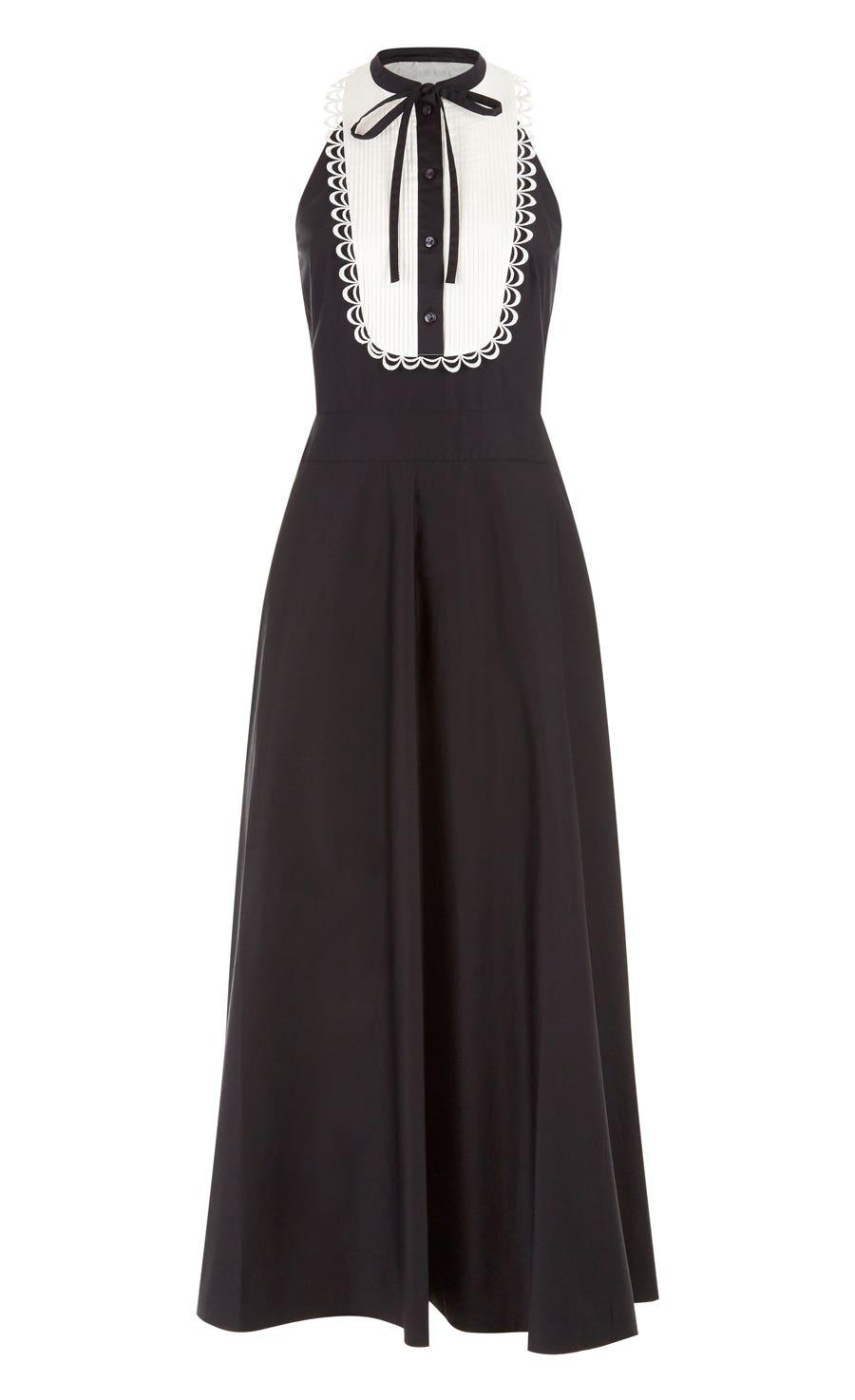 Fountain Midi Dress, Black