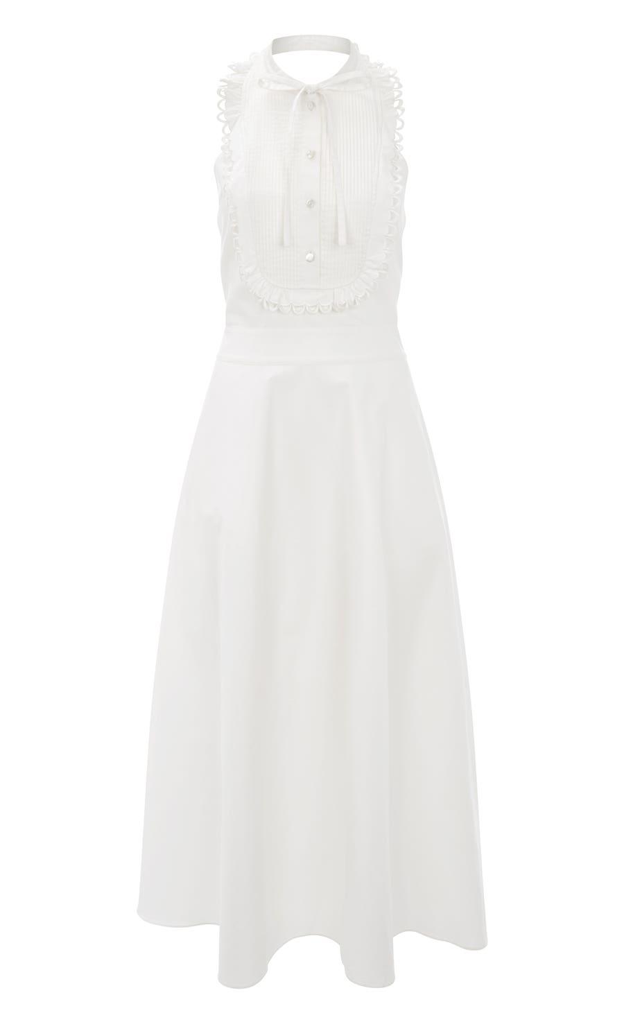 Fountain Midi Dress, White