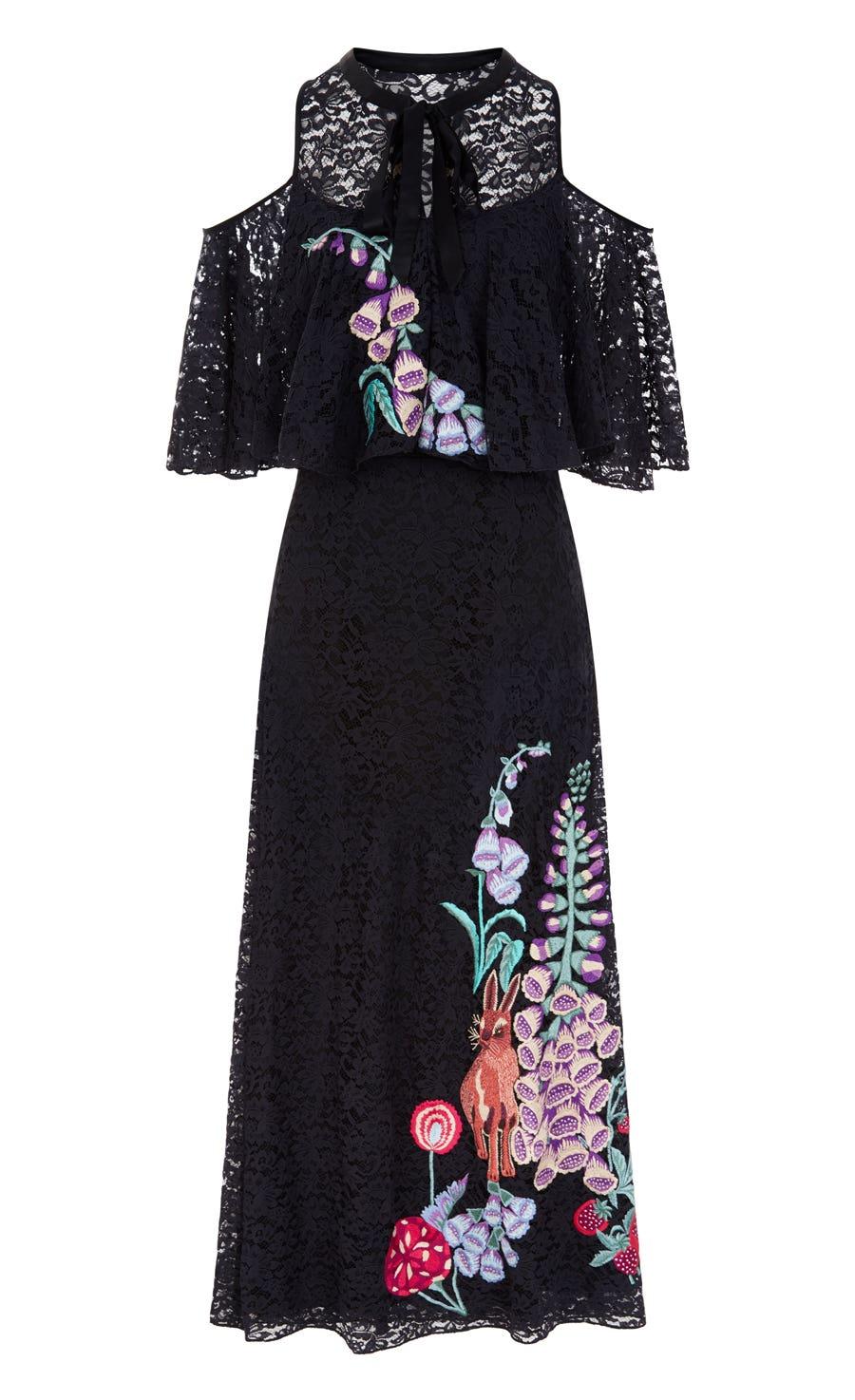 Farewell Dress, Black Mix