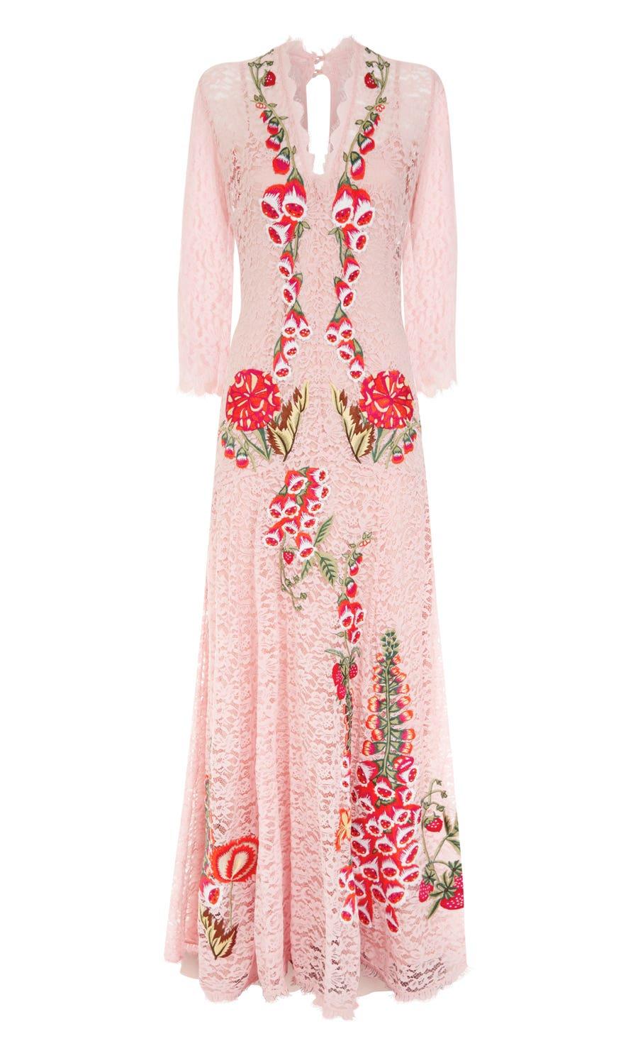 Farewell Long Dress, Peony Mix