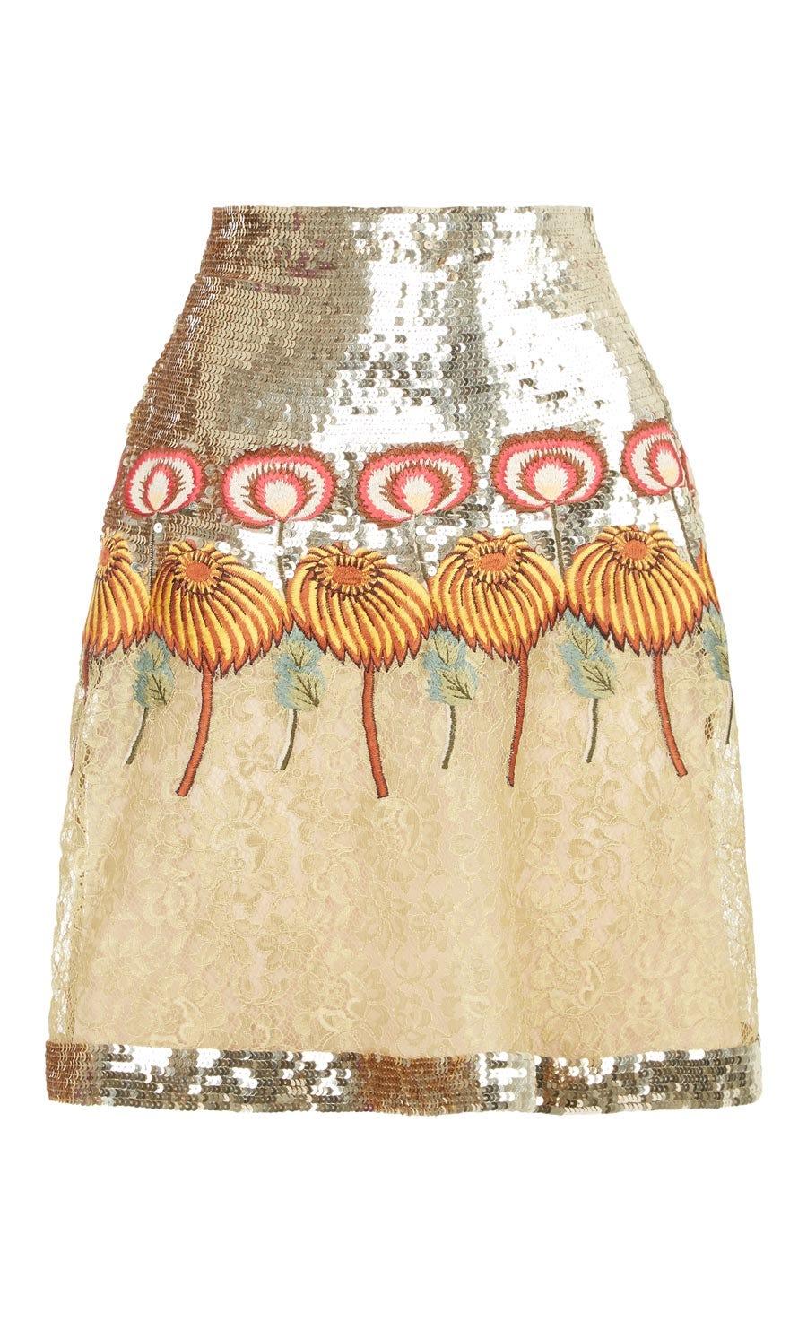 Farewell Mini Skirt, Gold Mix