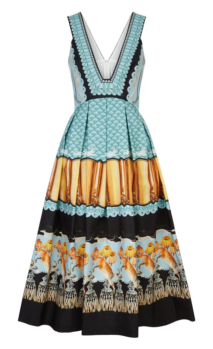 Foxglove Printed Dress, Fern Mix