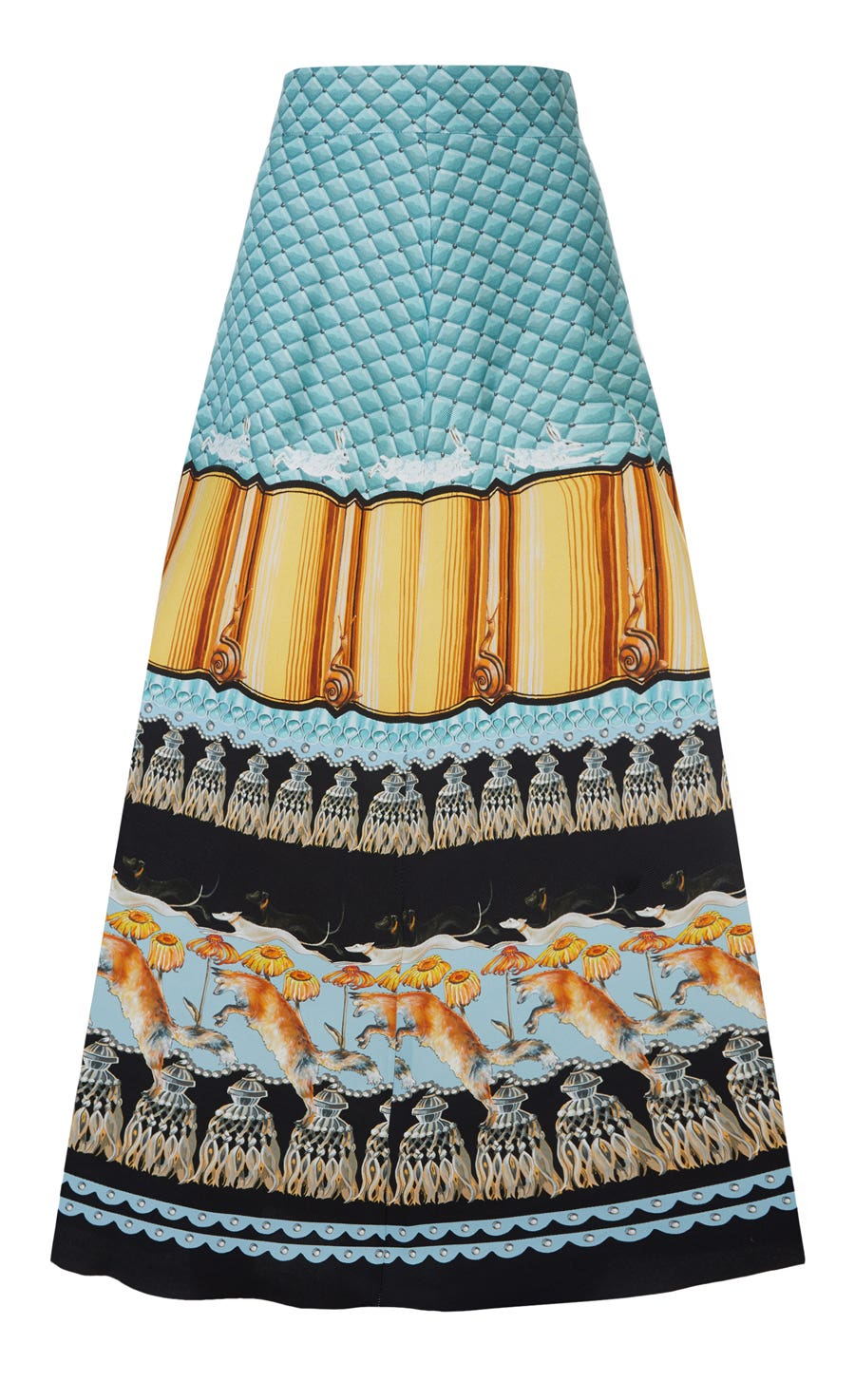 Foxglove Printed Midi Skirt, Fern Mix
