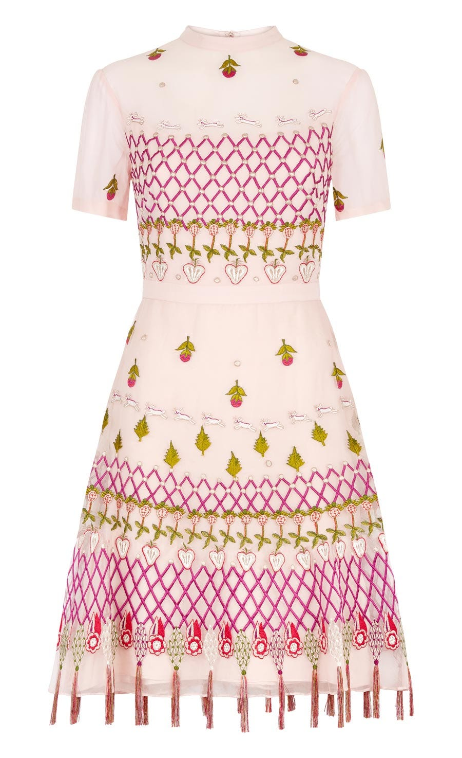 Horizon Mini Dress, Peony Mix