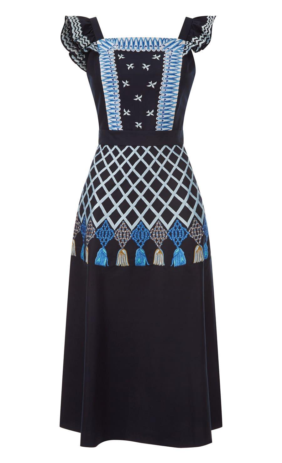 Poppy Field Dress, Midnight Mix