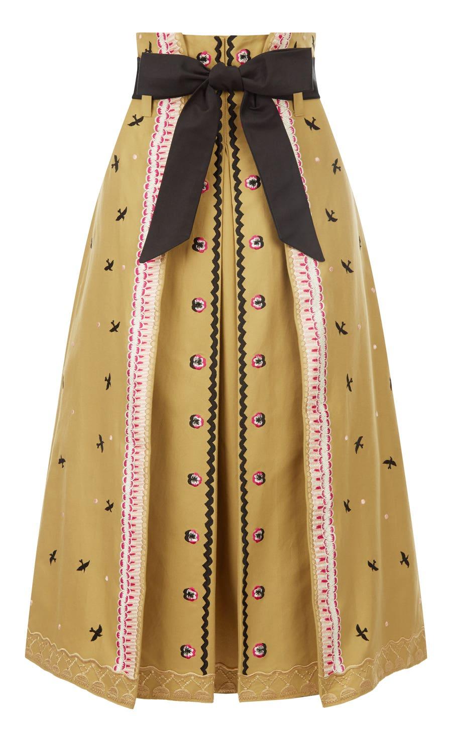 Poppy Field Skirt, Flax Mix