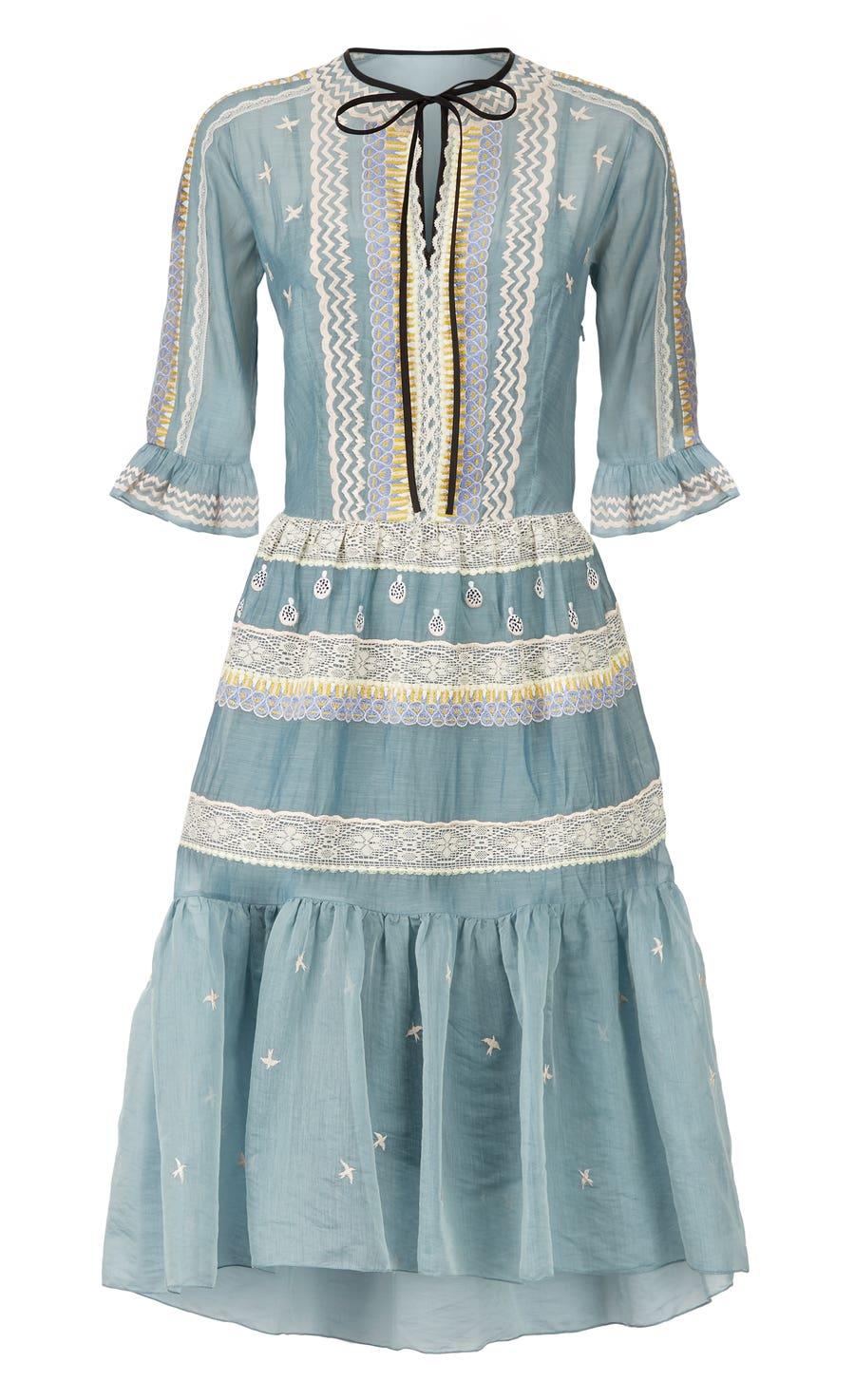 Poppy Field Tie Dress, Fern Mix