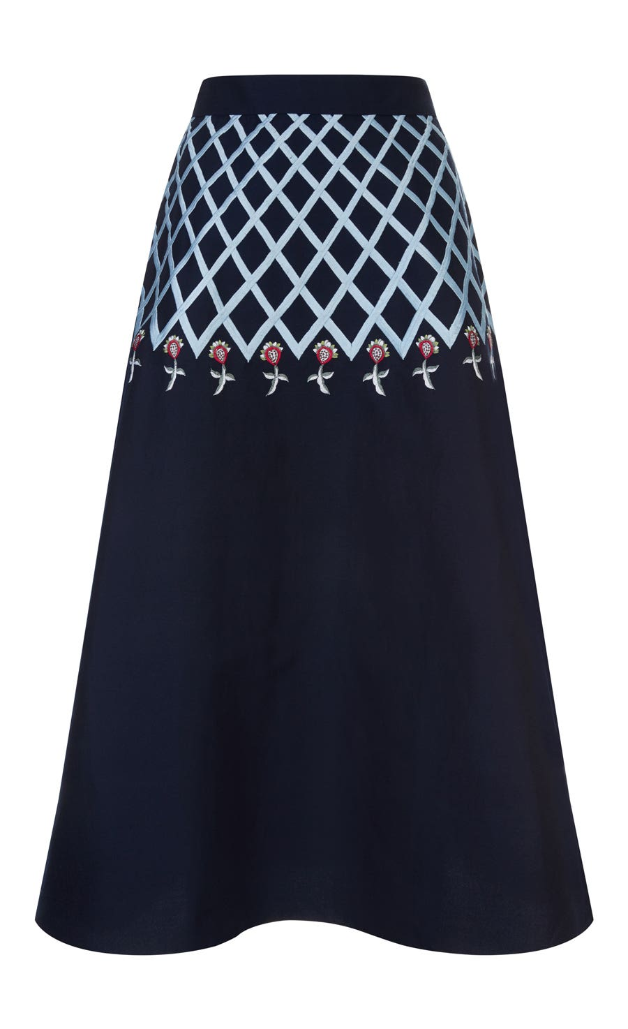 Poppy Field Midi Skirt, Midnight Mix