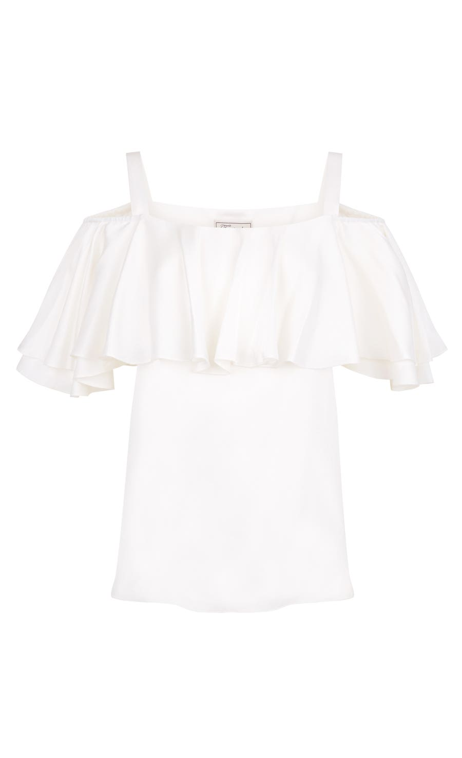 Seabright Shoulder Blouse, White