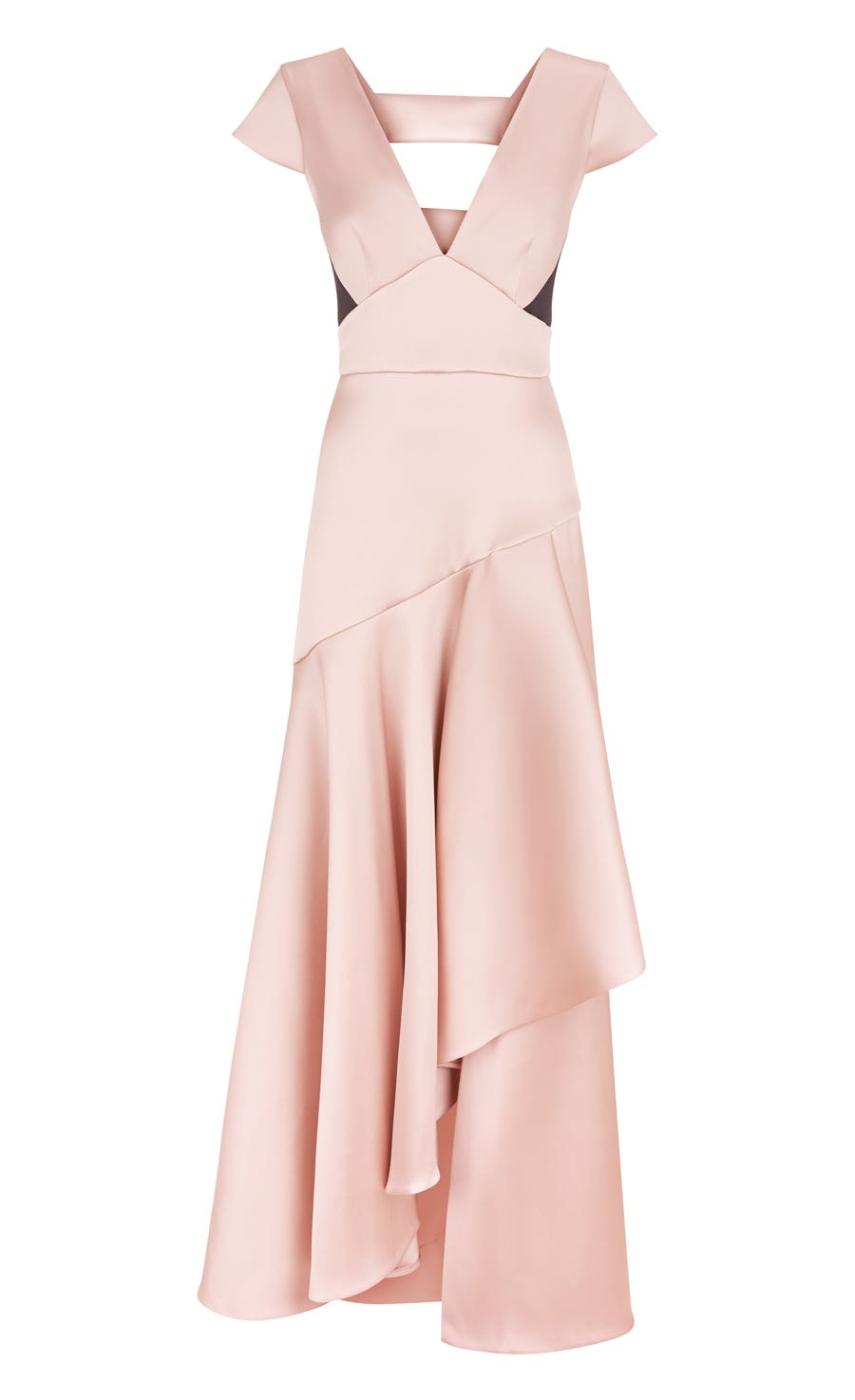 Shield Draped Dress, Blush