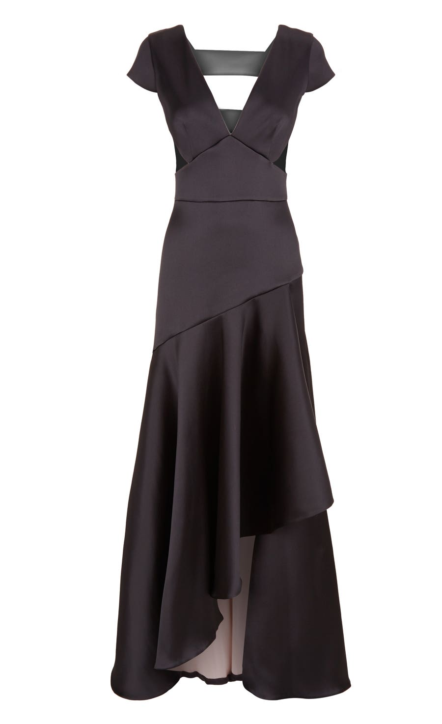 Shield Draped Dress, Black