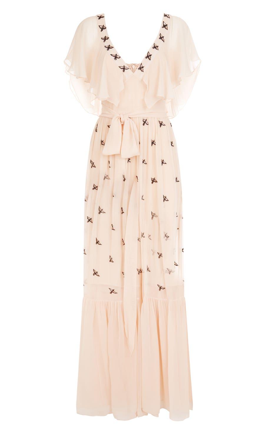 Starling V-neck Dress, Almond