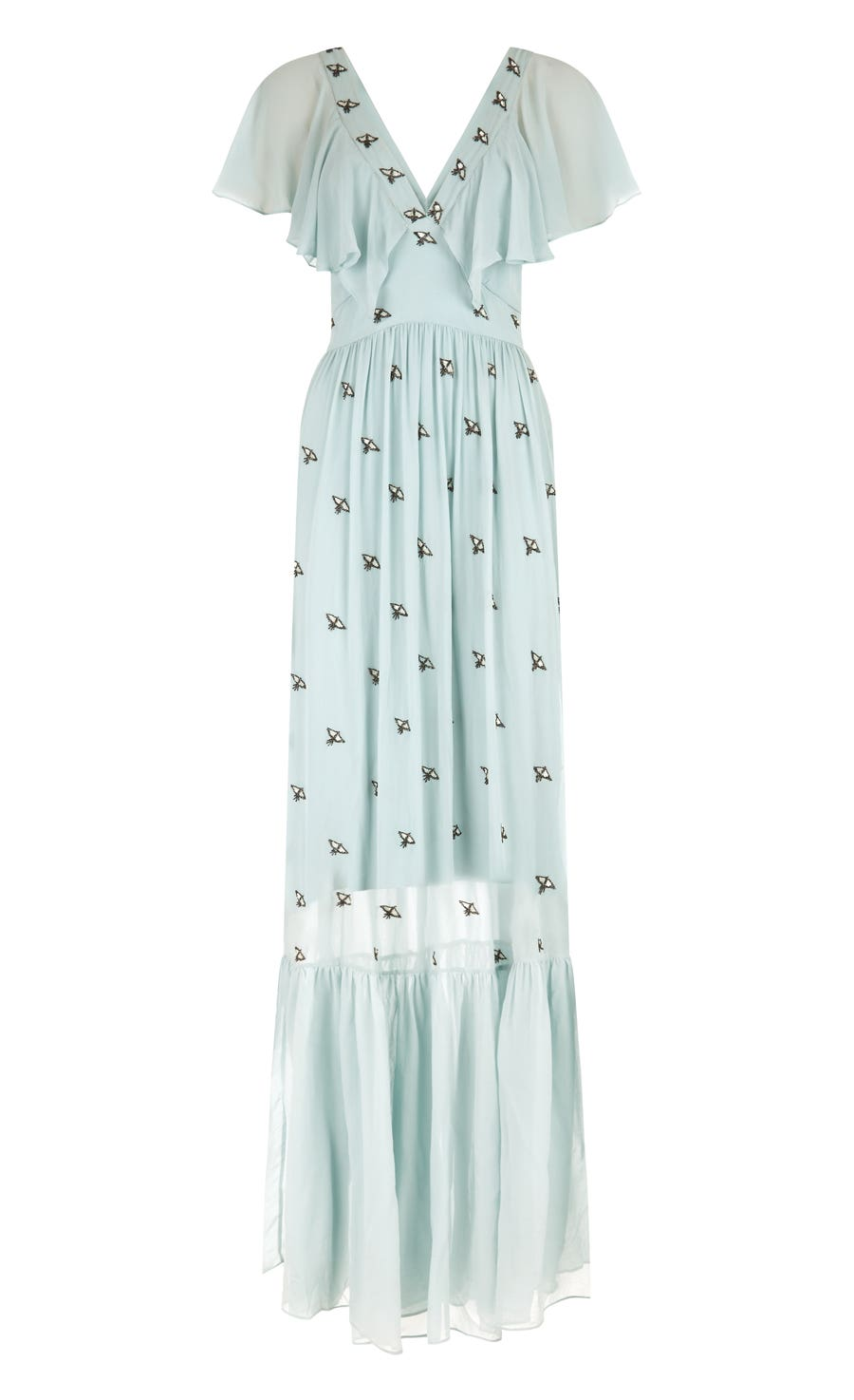 Starling V-neck Dress, Frost