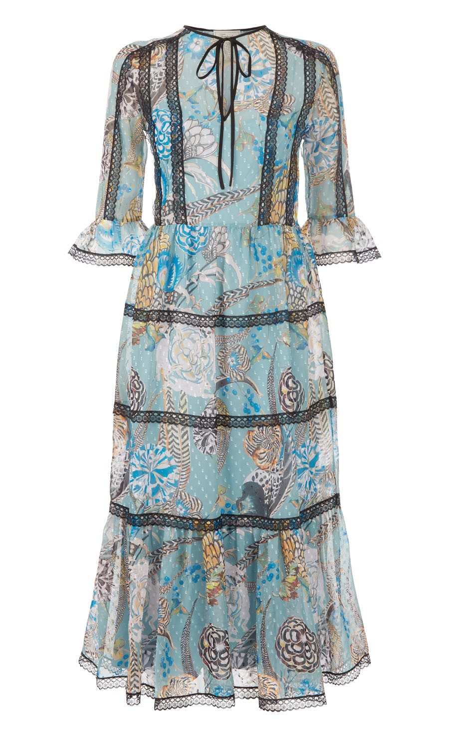 Shire Printed Dress, Blue Mix