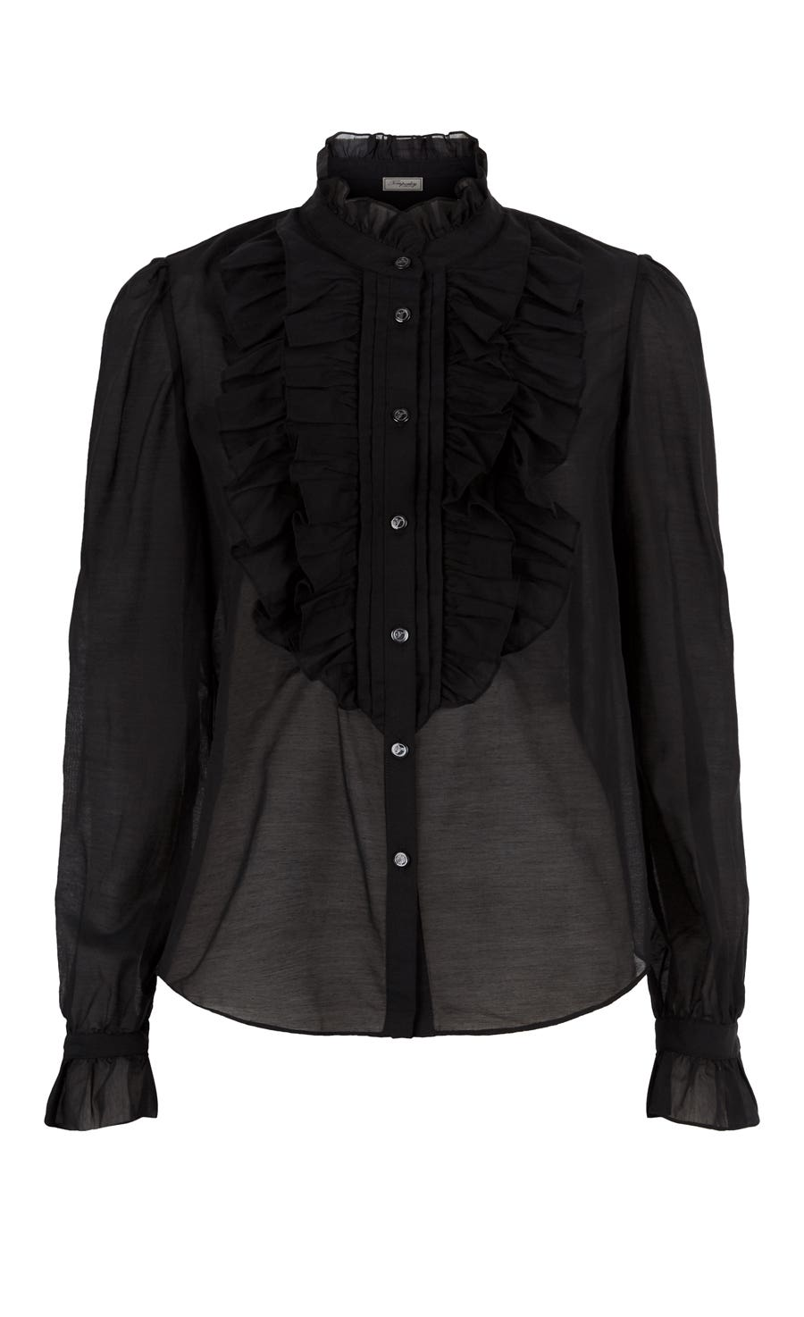 Strawberry Ruffle Shirt, Black