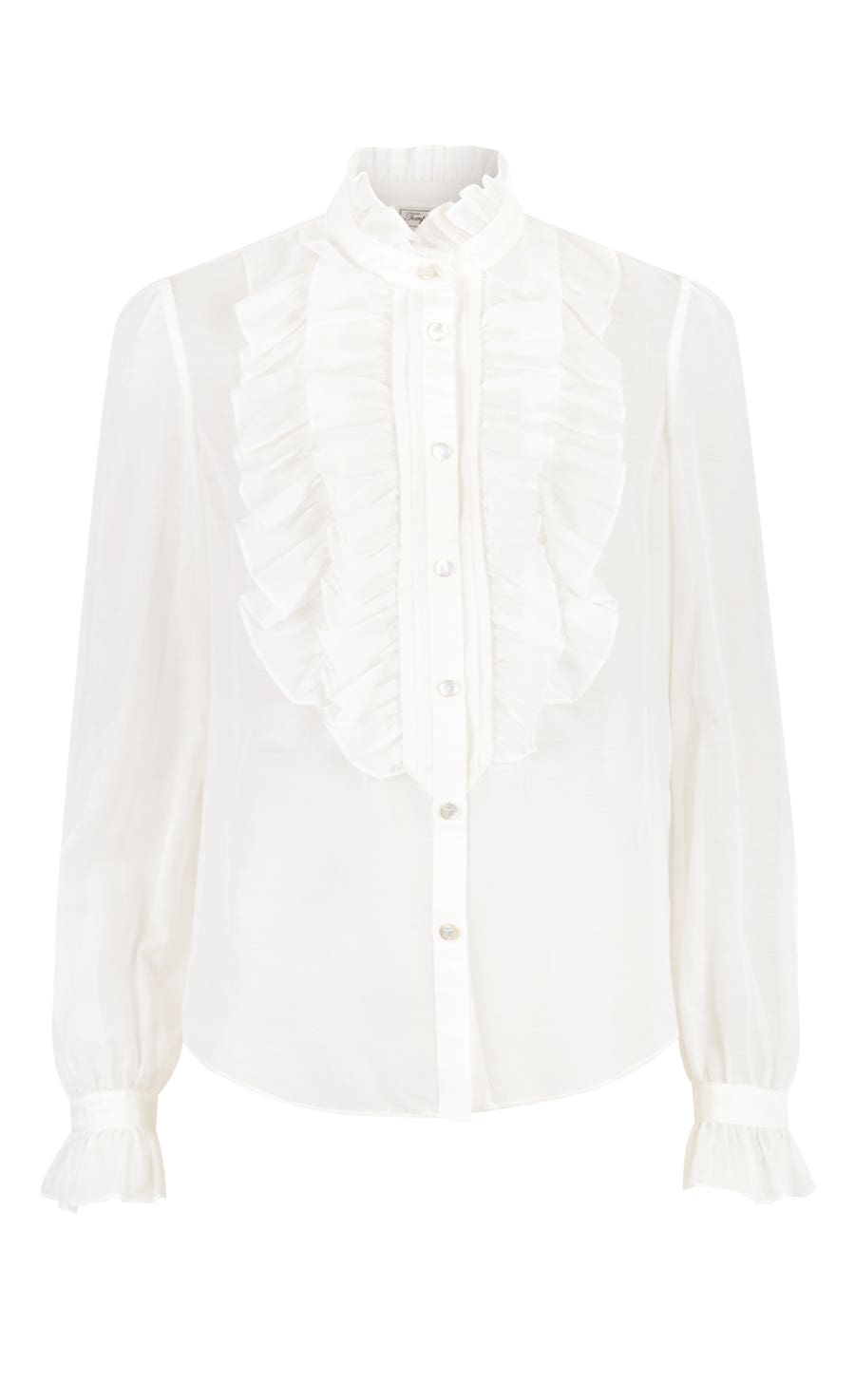 Strawberry Ruffle Shirt, White