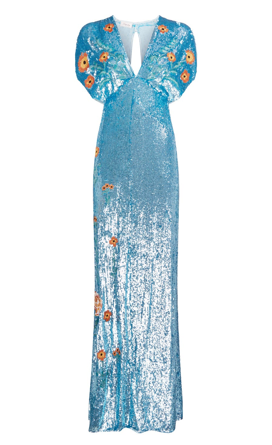 Wild Horse Long Dress, Blue Mix