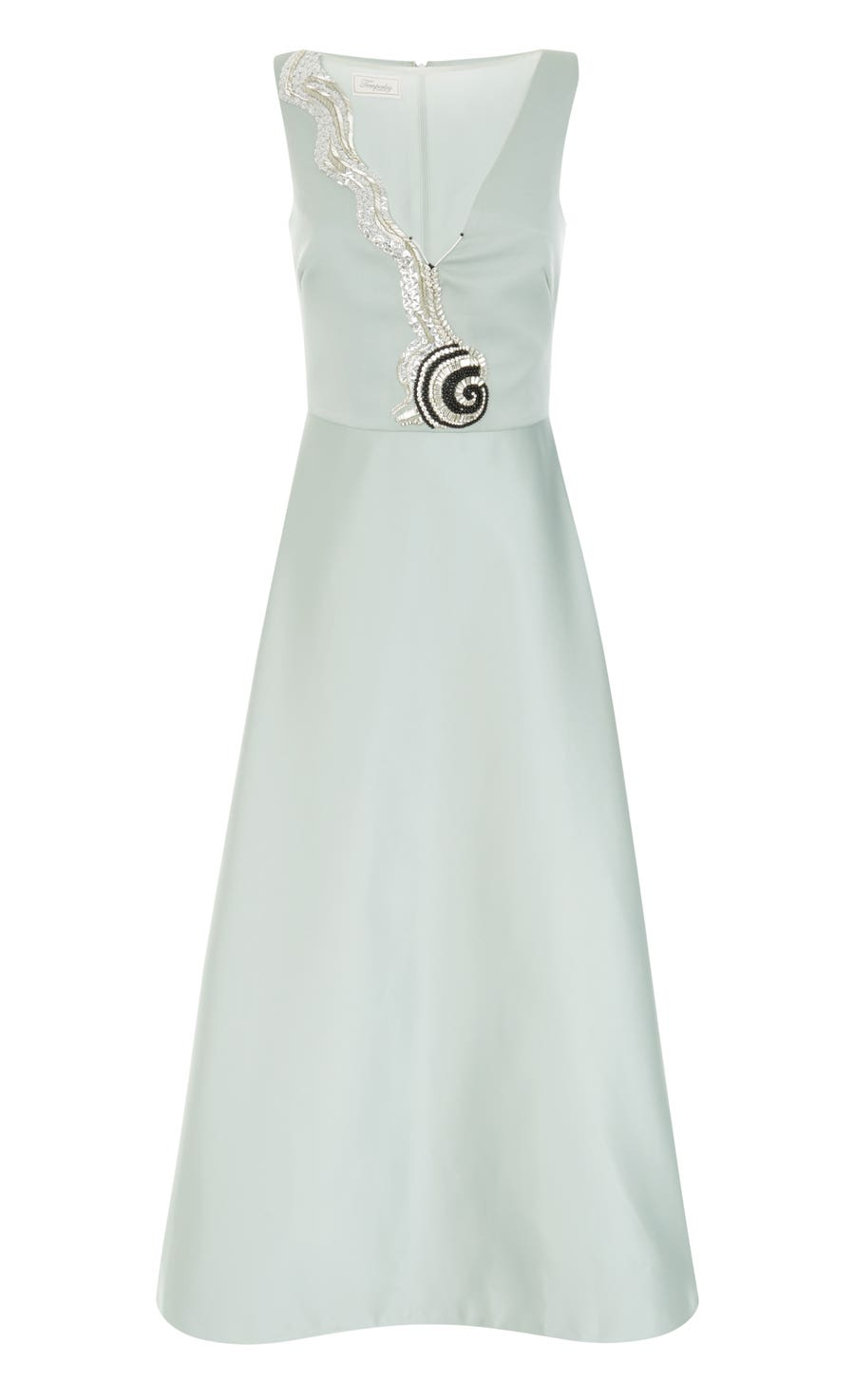 Waterlily Midi Dress, Duck Egg
