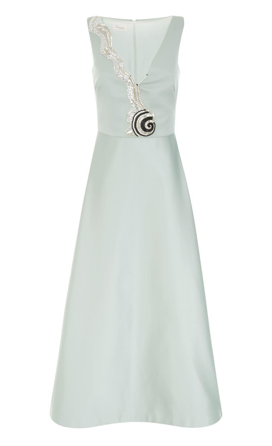 Waterlily Midi Dress, Duck Egg