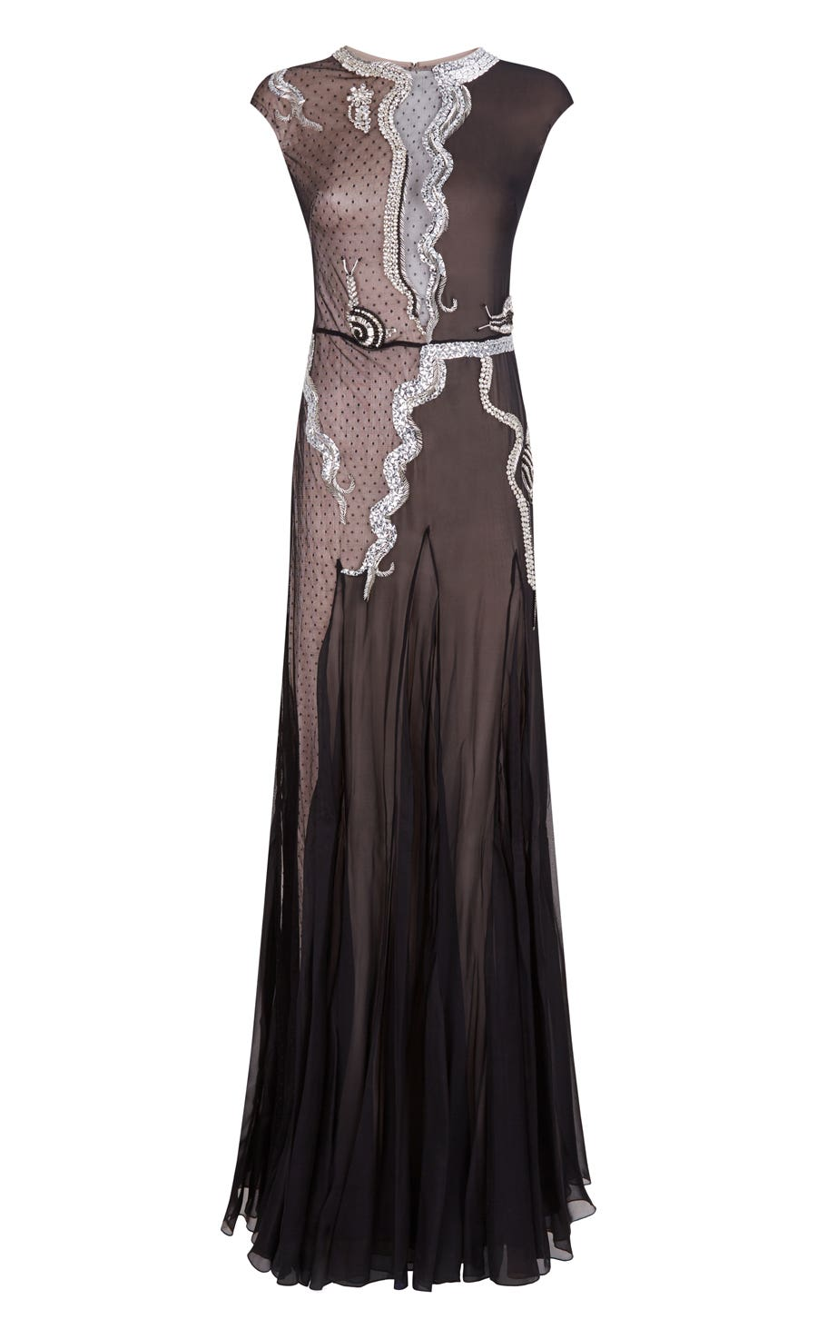 Waterlily Long Dress, Black