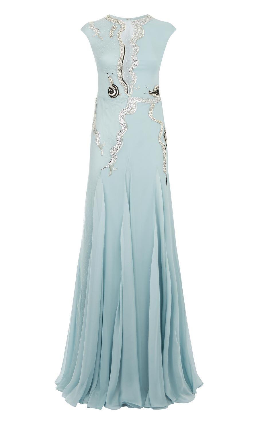 Waterlily Long Dress, Frost