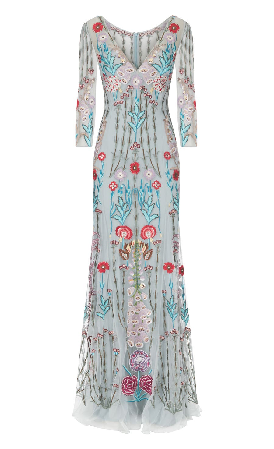 Woodland V-neck Dress, Frost Mix