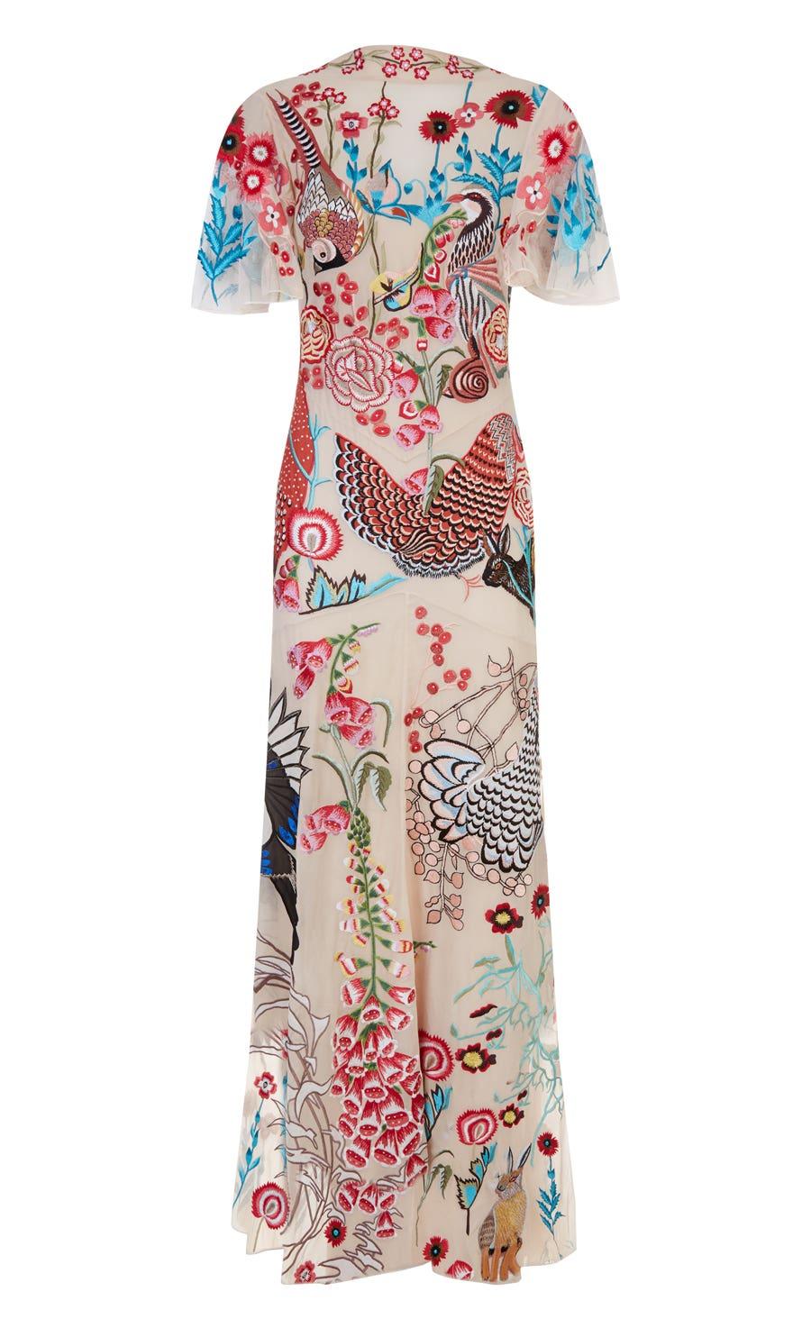 Woodland Long Dress, Almond Mix