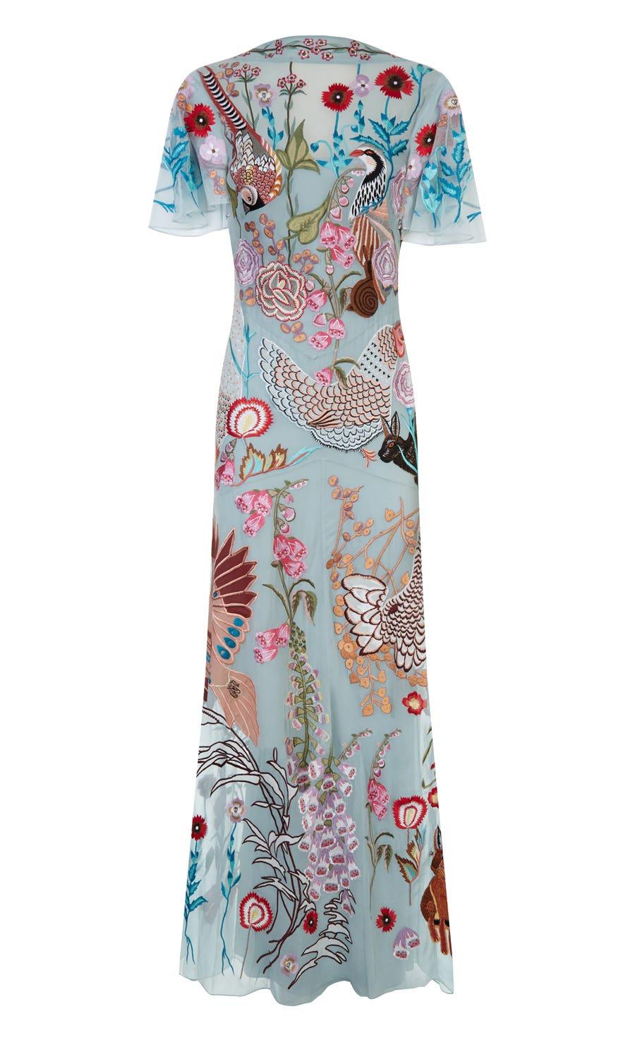 Woodland Long Dress, Frost Mix