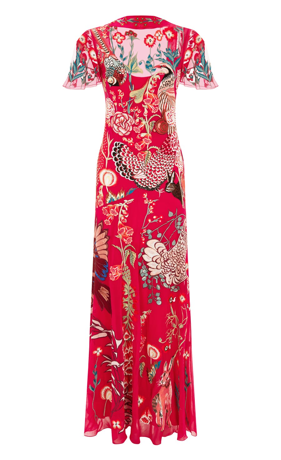 Woodland Long Dress, Thistle Mix