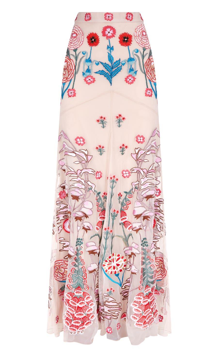 Woodland Long Skirt, Almond Mix