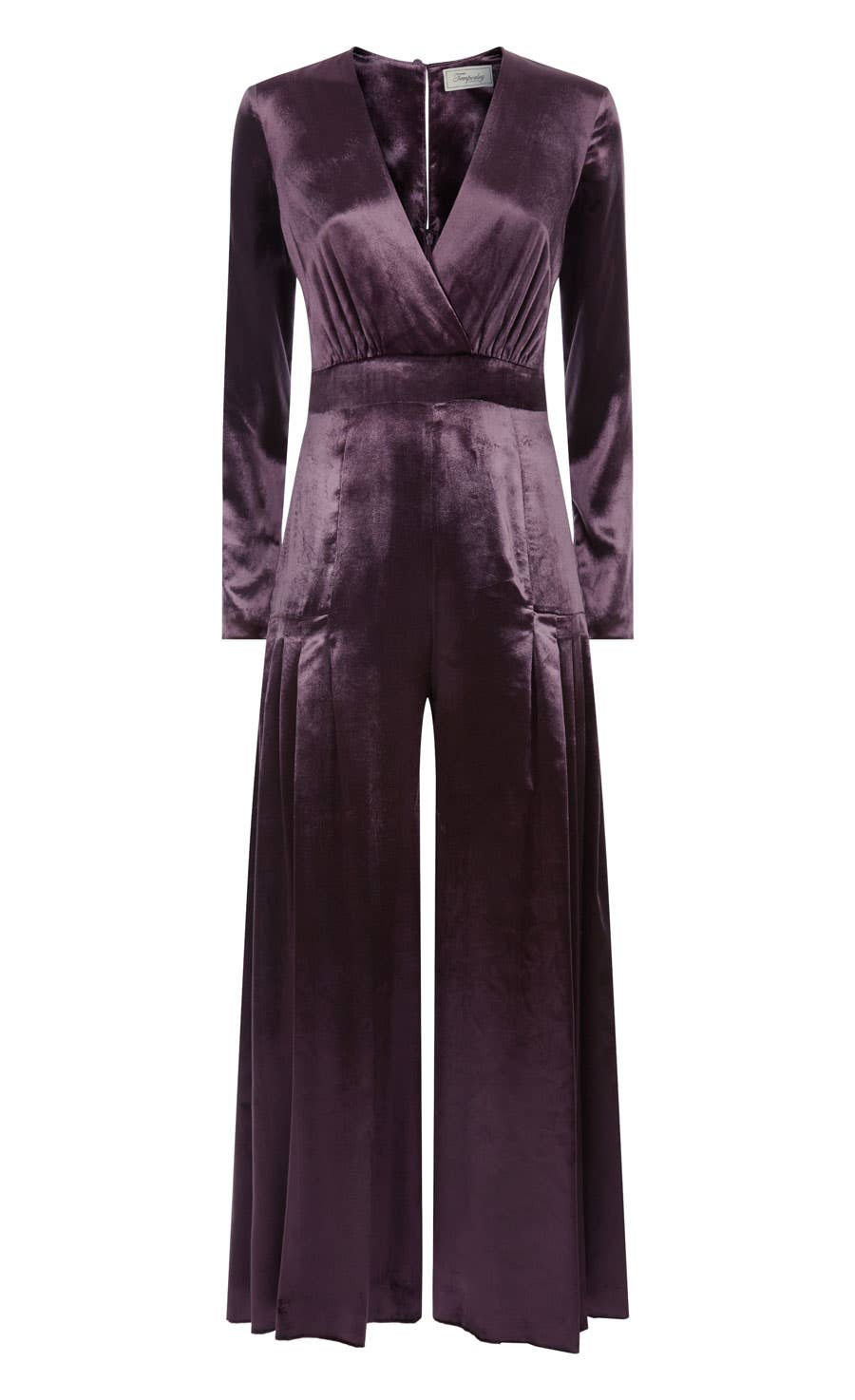 Breeze Wrap Jumpsuit, Aubergine