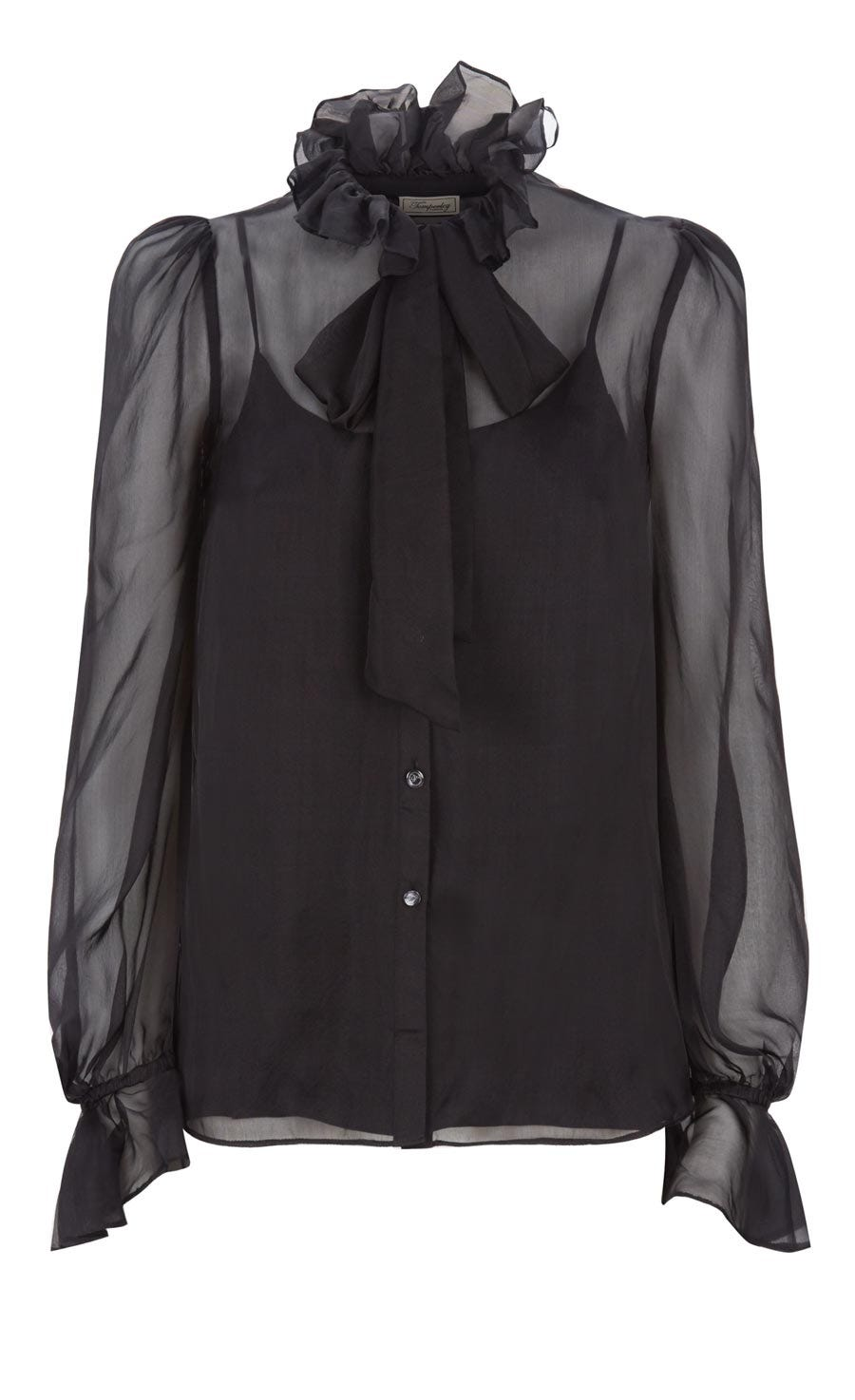 Costume Silk Shirt, Black