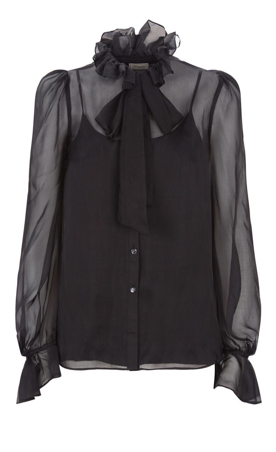 Costume Silk Shirt, Black