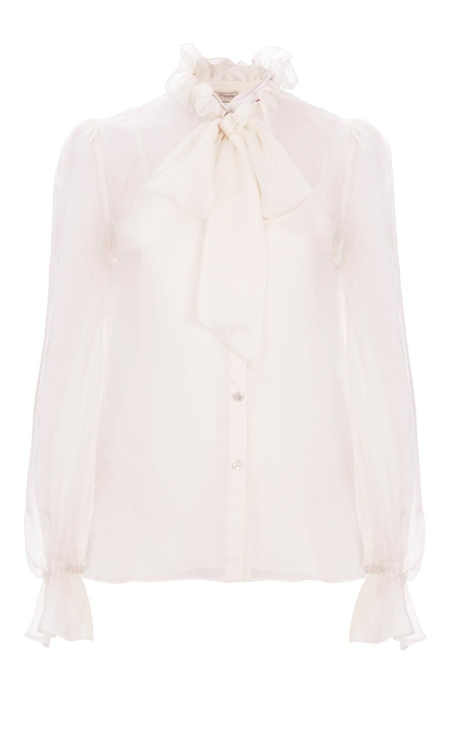Costume Silk Shirt, White