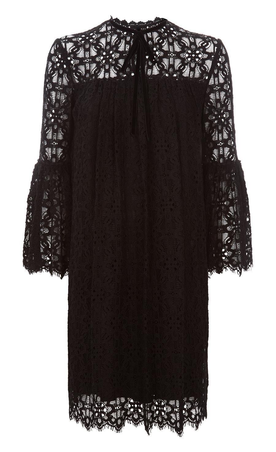 Eclipse Lace Mini Dress, Black
