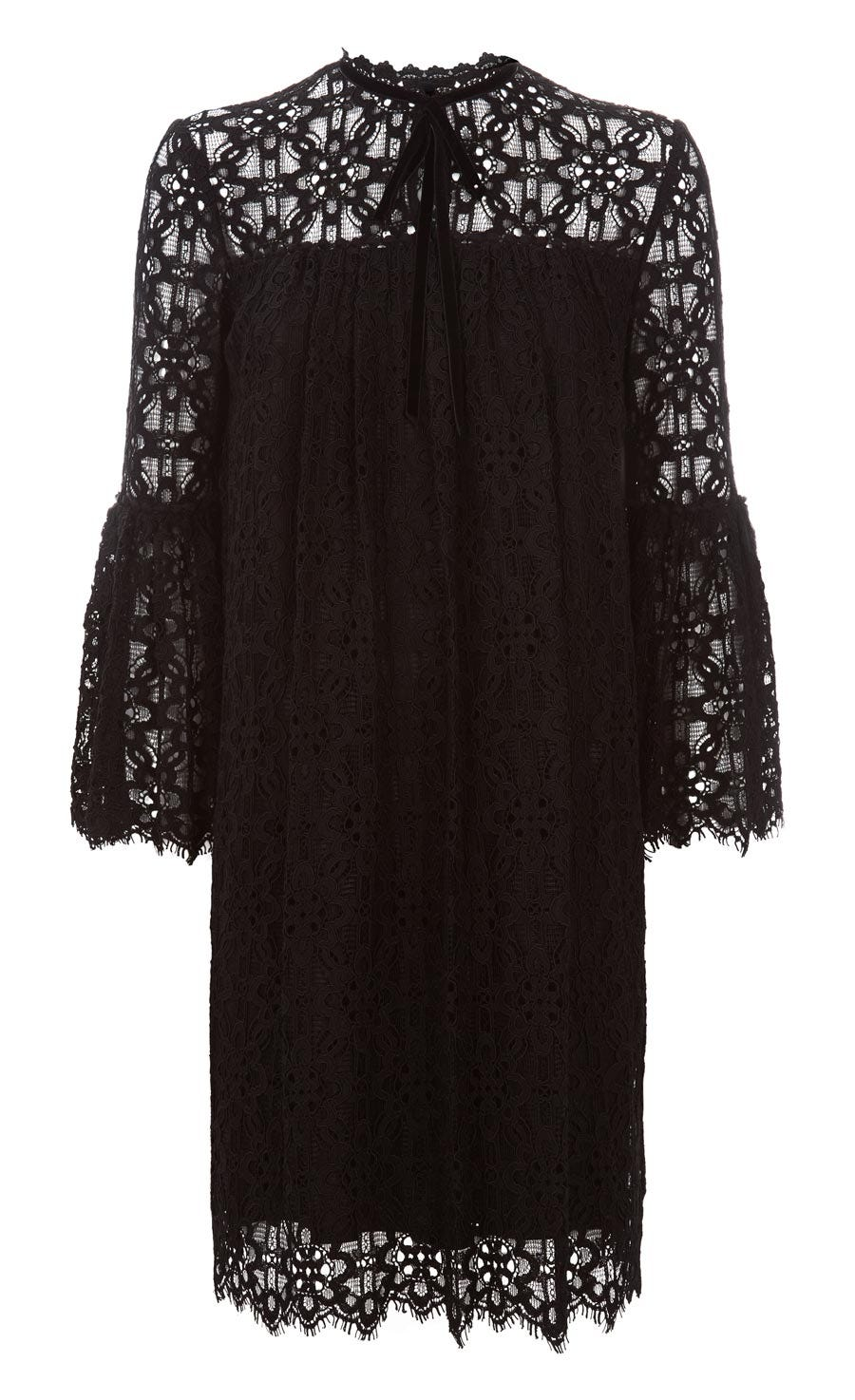 Eclipse Lace Mini Dress, Black
