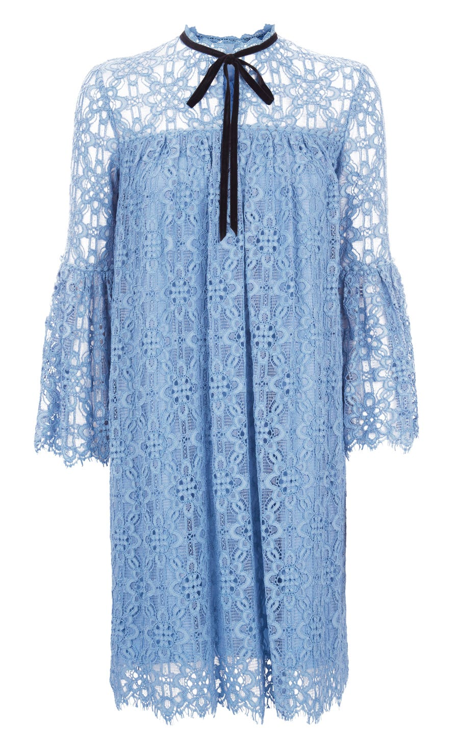 Eclipse Lace Mini Dress, Iris