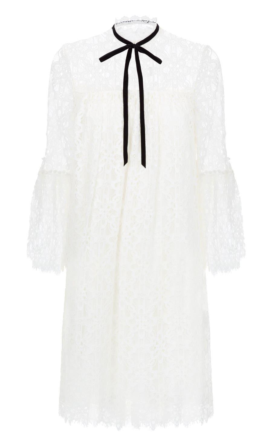 Eclipse Lace Mini Dress, White