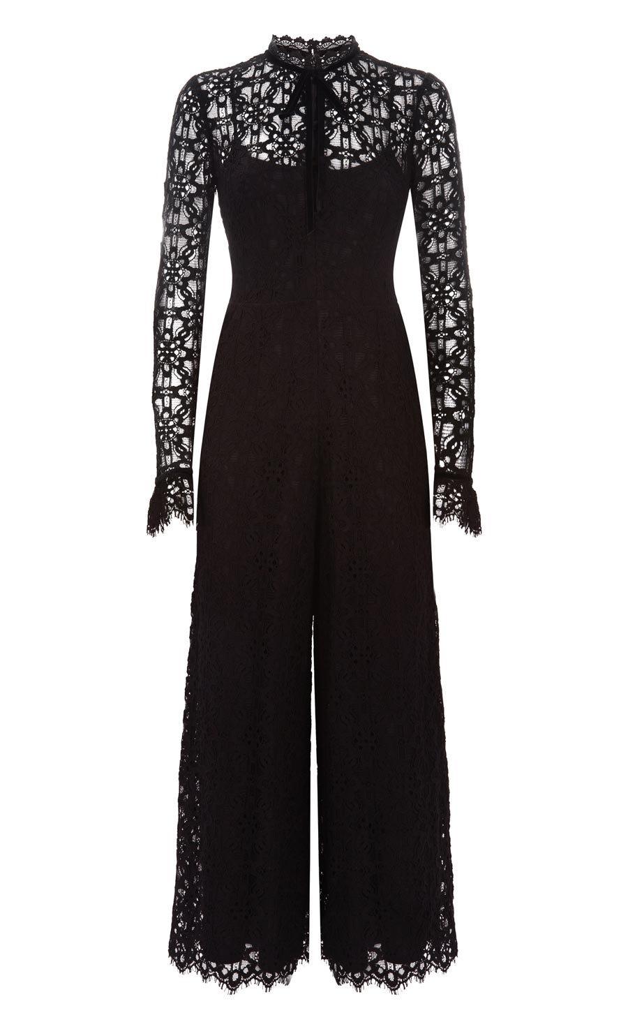 Eclipse Lace Jumpsuit, Black