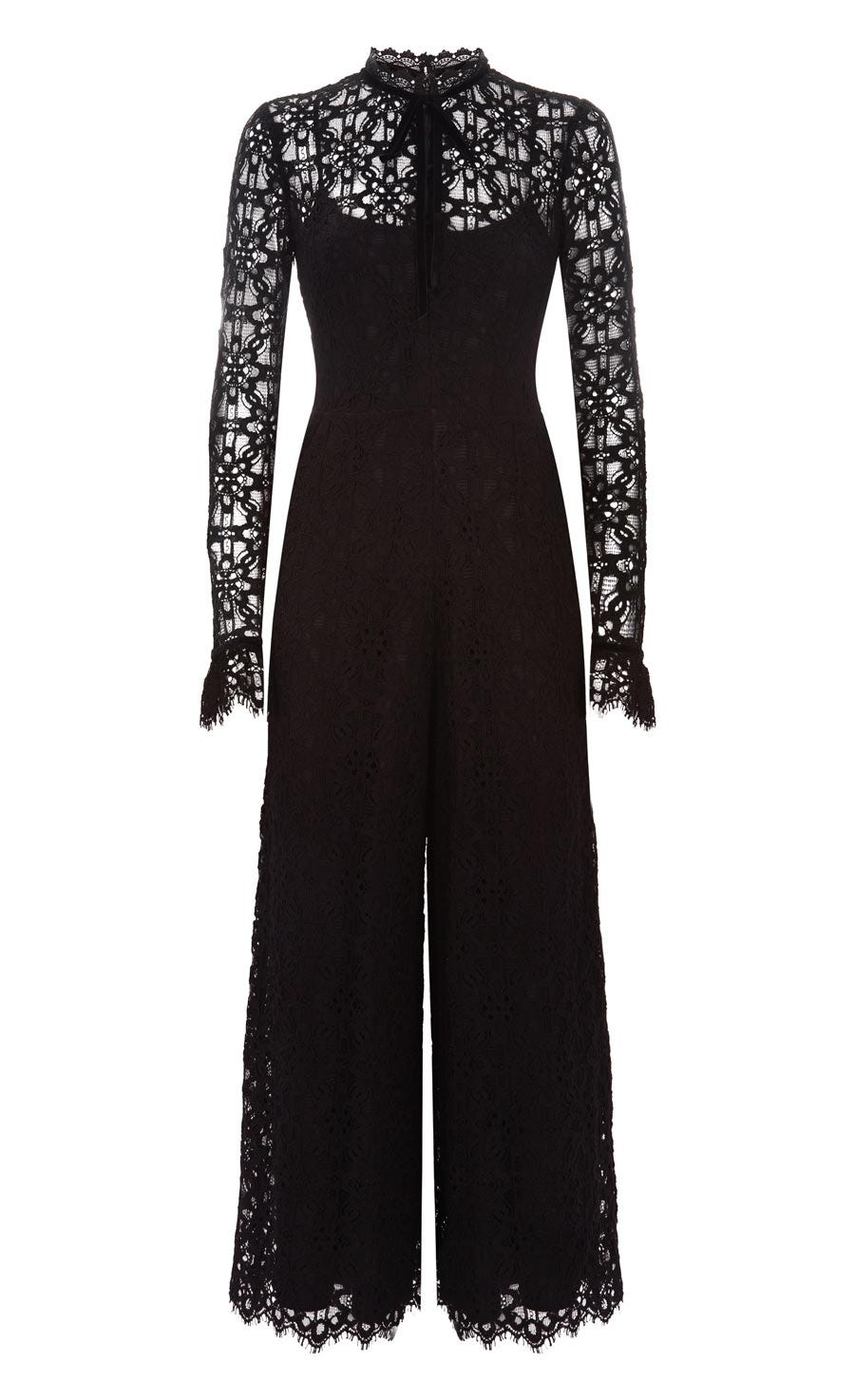 Eclipse Lace Jumpsuit, Black