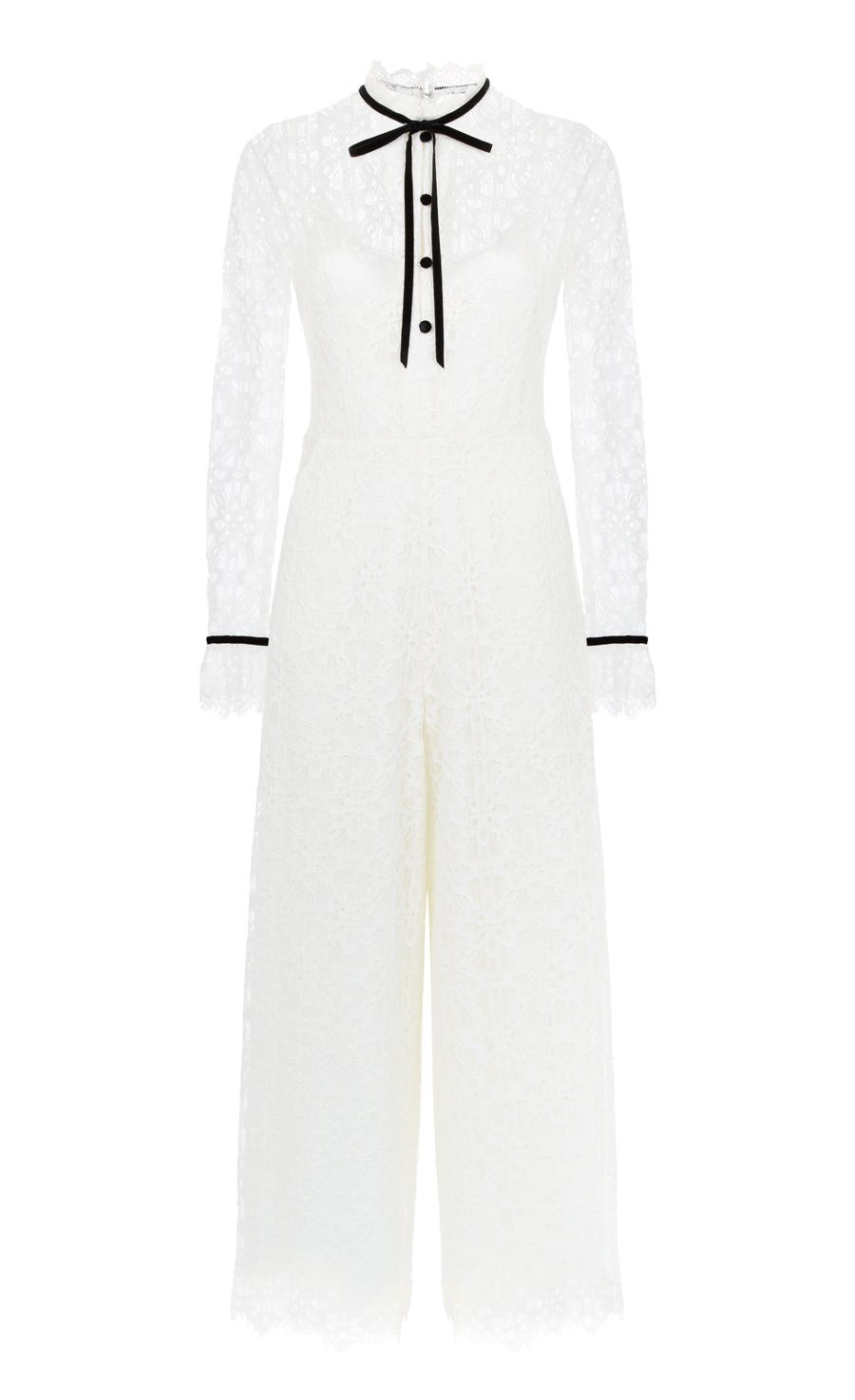 Eclipse Lace Jumpsuit, White
