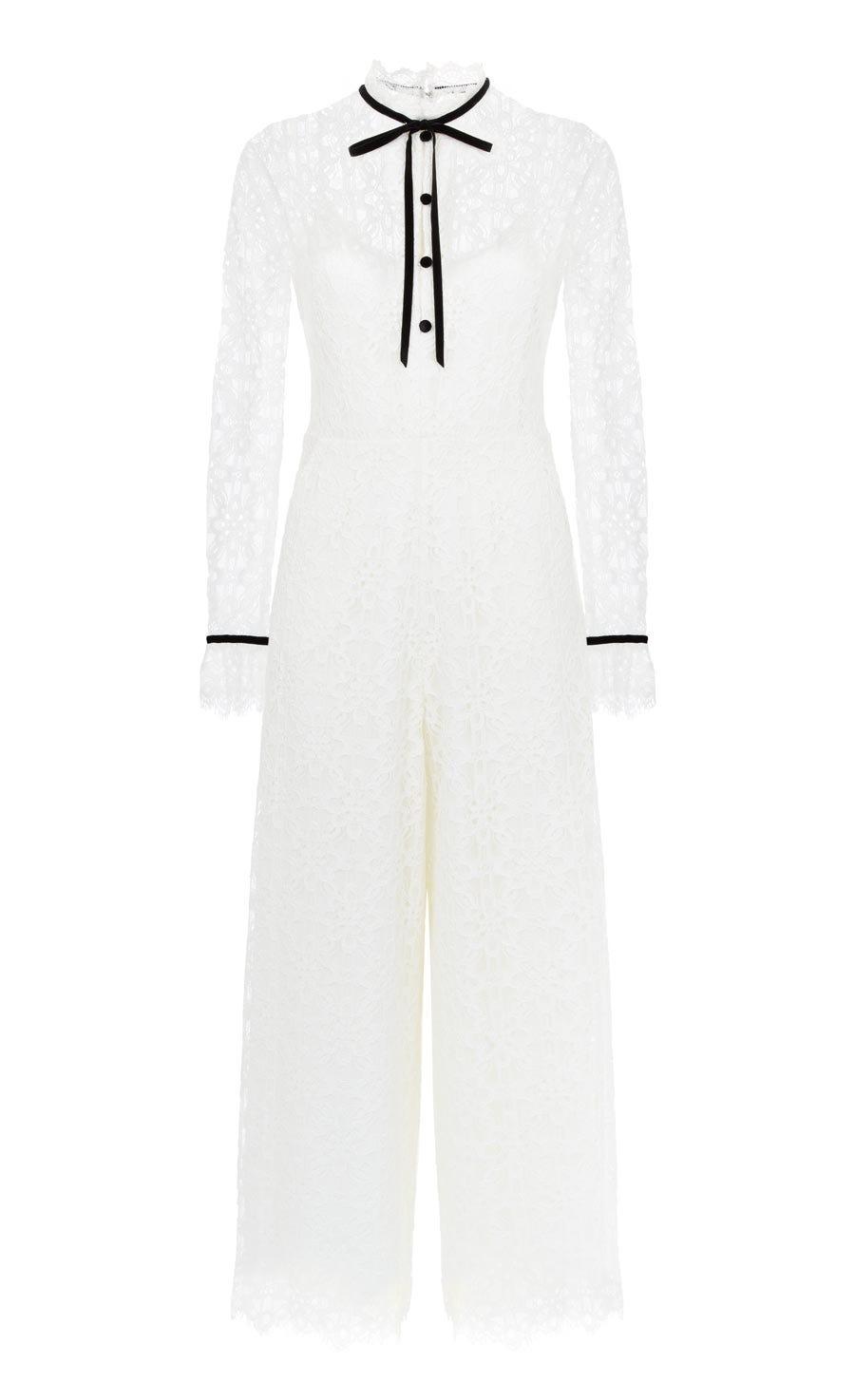 Eclipse Lace Jumpsuit, White