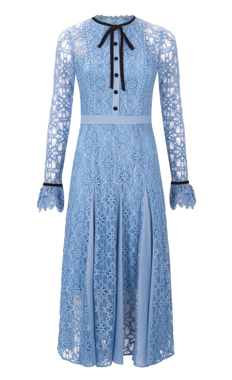 Eclipse Lace Collar Dress, Iris