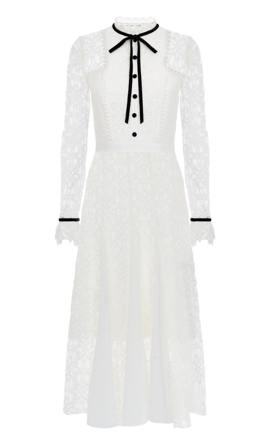 Eclipse Lace Collar Dress, White